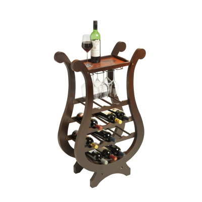 15 Bottle Lyre Wine Rack With Bar