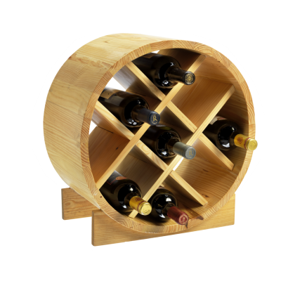 9 Bottle Pine Cask Wine Rack