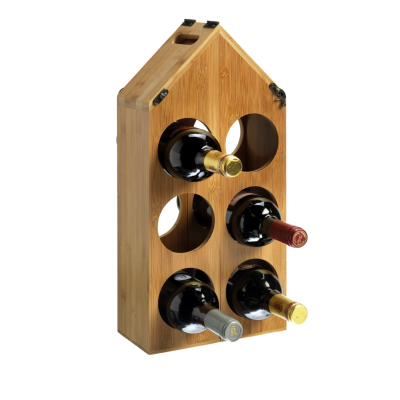 6 Bottle Adaptable Carry Case Bamboo Wine Rack