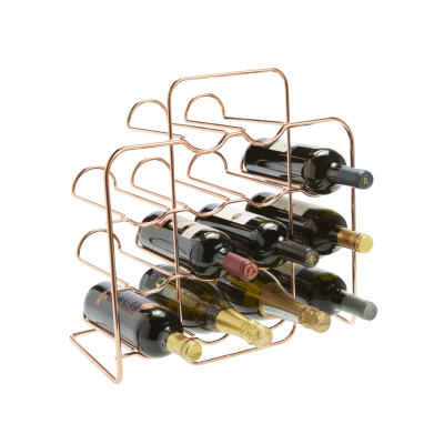 14 Bottle Neat Rose Gold Wire Rack
