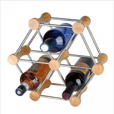 Wooden Hexagon Shaped Wine Rack