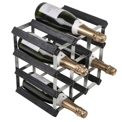12 Bottle Traditional Wooden Wine Rack 3x3