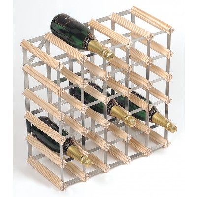 30 Bottle Traditional Wooden Wine Rack 5x5