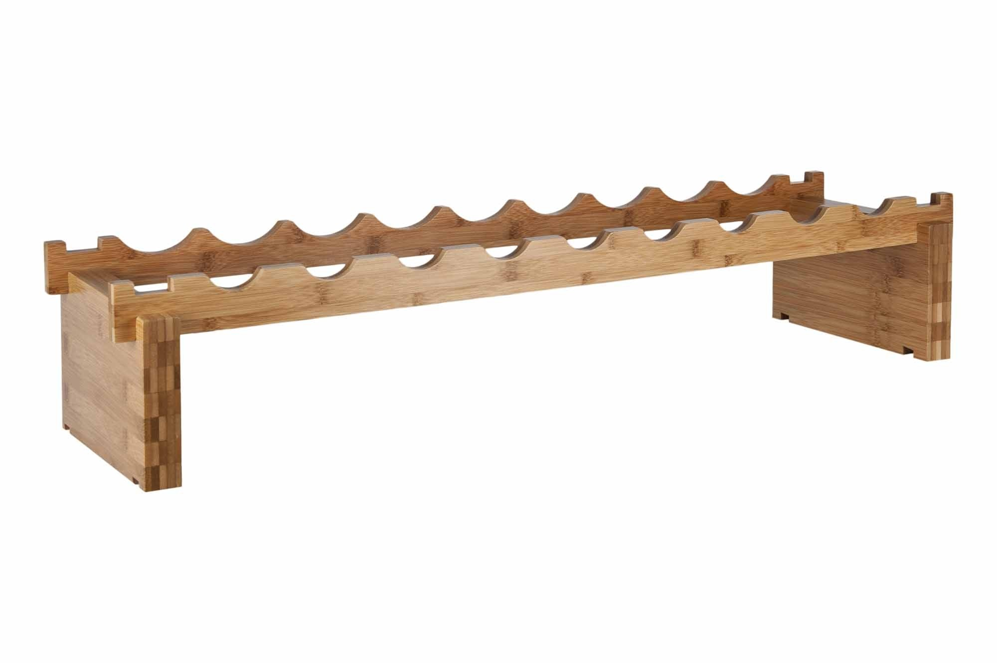 9 Bottle Bamboo Modular Wine Rack Products