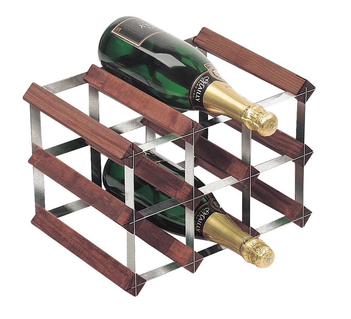 Bottle traditional wooden wine rack