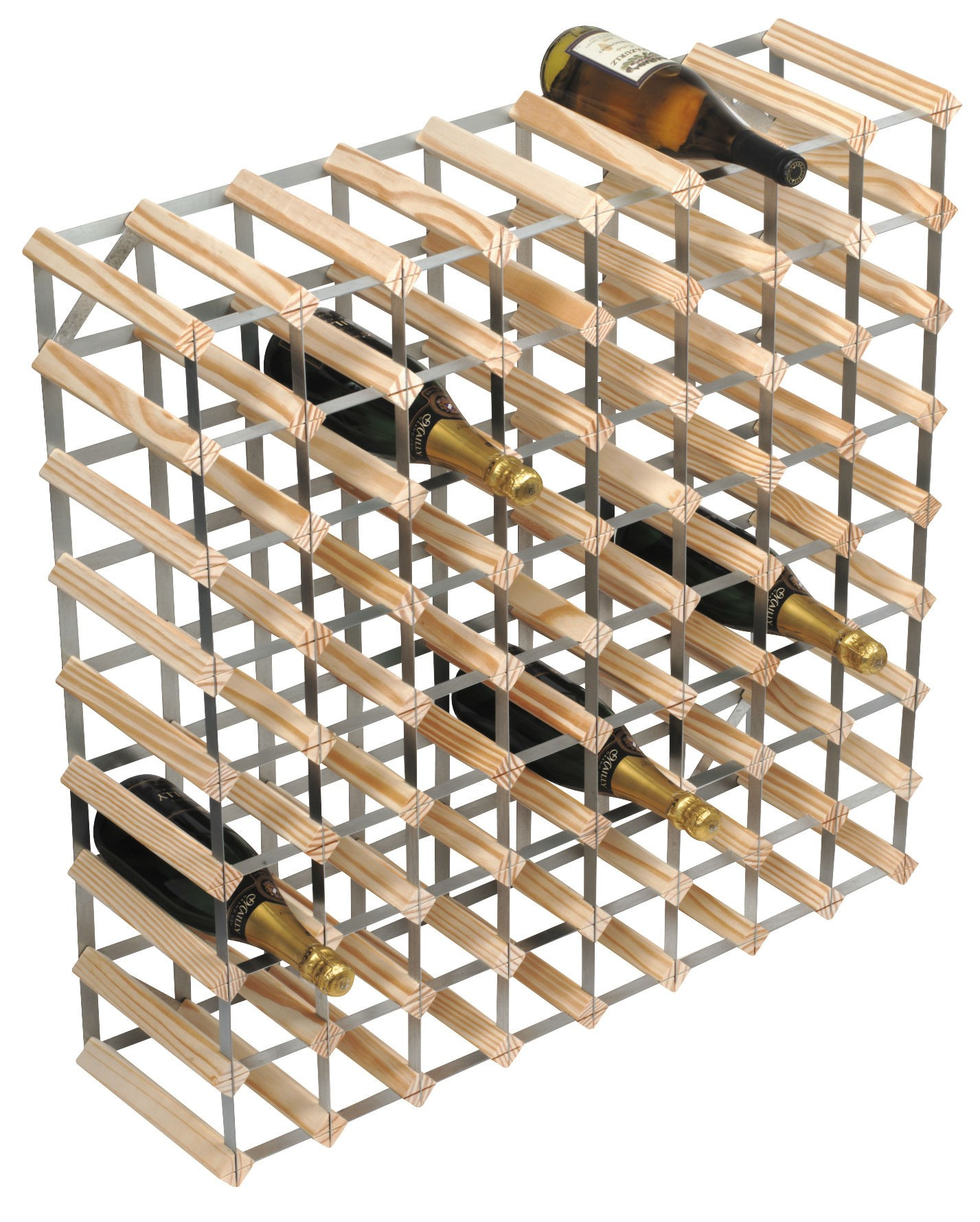 72 bottle traditional wooden wine rack 8x8. Black Bedroom Furniture Sets. Home Design Ideas