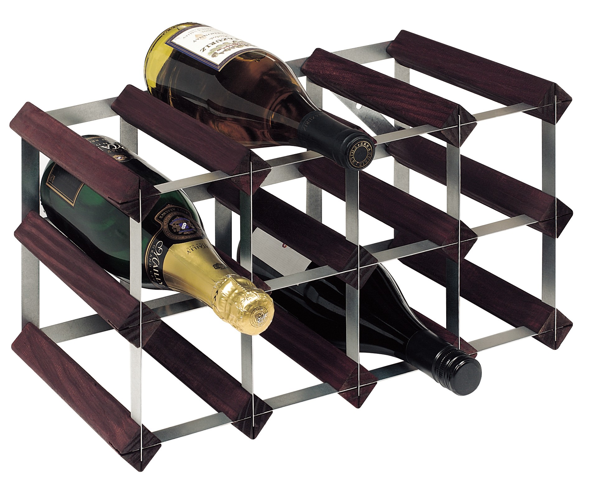 Bottle Traditional Wooden Wine Rack 4x2