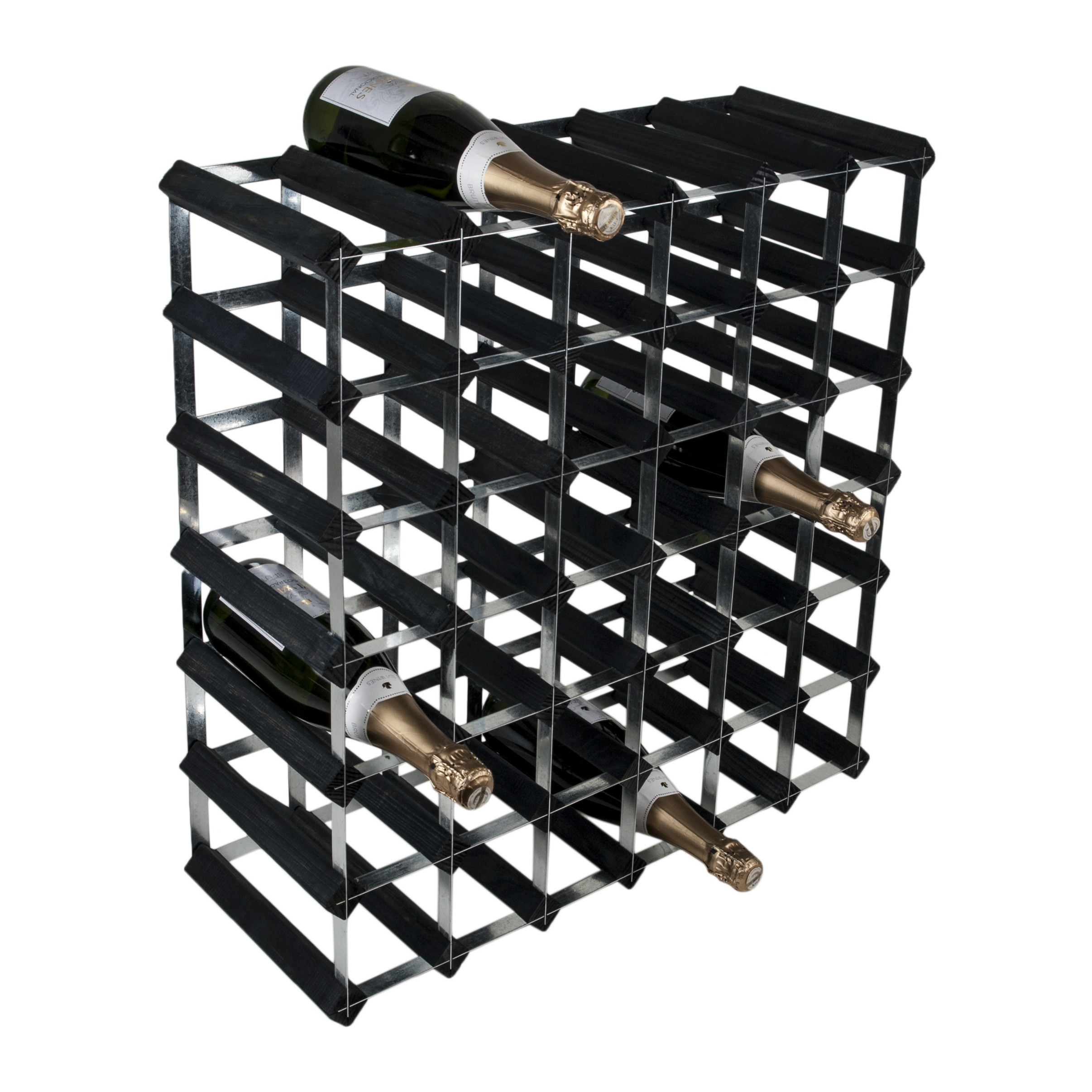 42 Bottle Traditional Wooden Wine Rack 6x6 Traditional