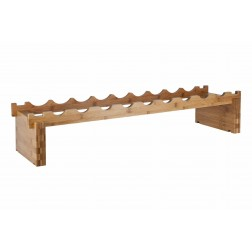 9 Bottle Bamboo Modular Wine Rack