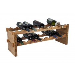 18 Bottle Bamboo Modular Wine Rack