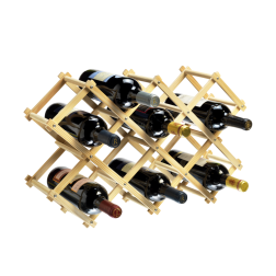 10 Bottle Collapsible Pine Wine Rack