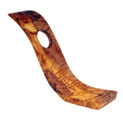 Olive Wood S Shape Bottle Holder