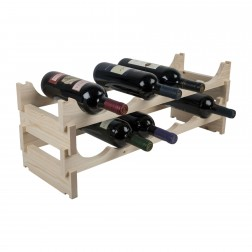 12 Bottle Pine Modular Wine Rack 6x2
