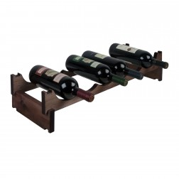 6 Bottle Pine Modular Wine Rack 6x1