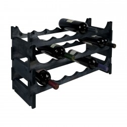 18 Bottle Pine Modular Wine Rack 6x3