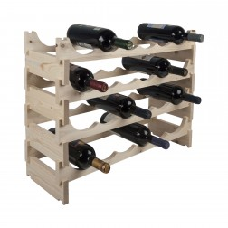 24 Bottle Pine Modular Wine Rack 6x4