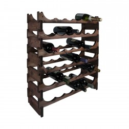 36 Bottle Pine Modular Wine Rack 6x6
