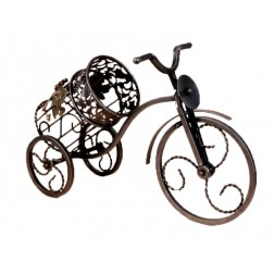 Stylish Iron Bicycle Wine Bottle Holder