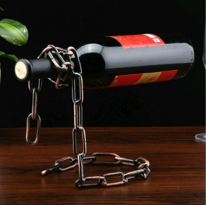 Magic Floating Chain Wine Bottle Holder