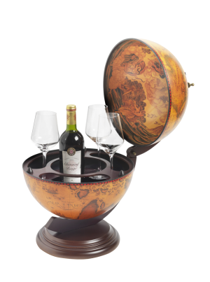 3 Bottle Table Top Globe Wine Bar