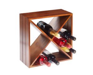 12 Bottle Dark Wood Wine Cube