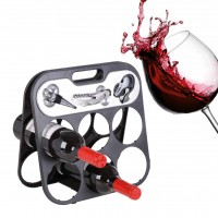 6 Bottle Wine Rack with Accessory Set