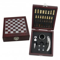 Chess Set with Wine Kit