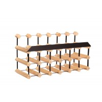 18 Bottle Traditional Display Wine Rack 6 x 3