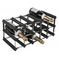 15 Bottle Traditional Wooden Wine Rack 5x2