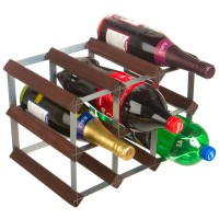9 Bottle Pop and Wine Bottlestore System Traditional Wooden Rack 3x2