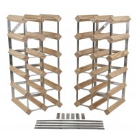 30+ Bottles 6-in-1 Flexi Traditional Wooden Wine Rack 2X 5X2
