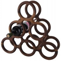 6 Bottle Black Walnut Gambrel Wine Rack